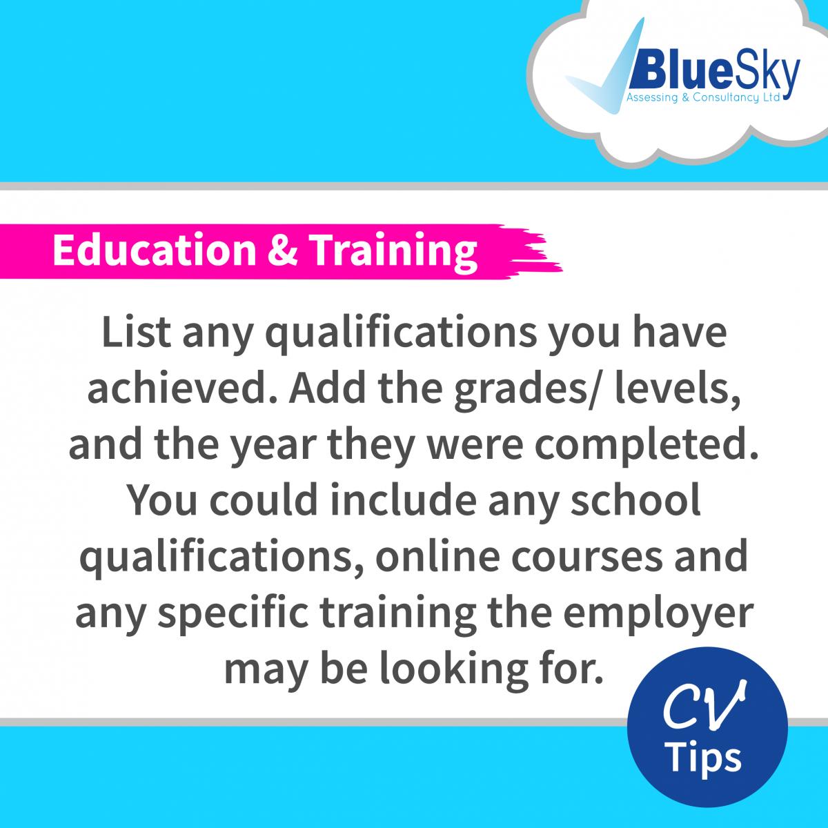 CV-Tips-Education