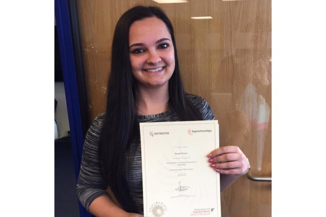 Sarah, Apprenticeship, Marketing, Certificate, Blue Sky
